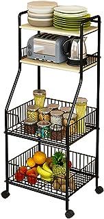 Carrosserie Et étagères De Rangement De Cuisine, Rack D'épices à 4 Niveaux, Assaisonnement Pors D'herbe Stockage Compteur ...