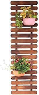 Plant Racks Brown Flower Shelf on The Wall Mounted Flower Stand Wooden Interior Balcony Hanging Plant Shelf Exterior Decor...