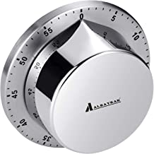 Albayrak Kitchen Timer, Chef Cooking Timer Clock with Loud Alarm, No Batteries Required, 100% Mechanical - Magnetic Backin...