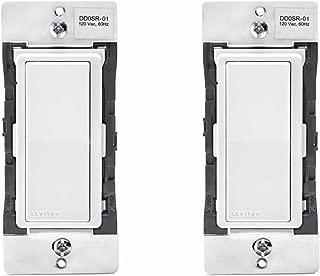 Leviton DD0SR-1Z 120VAC Decora Digital/Decora Smart Coordinating Switch Remote (2 Pack)