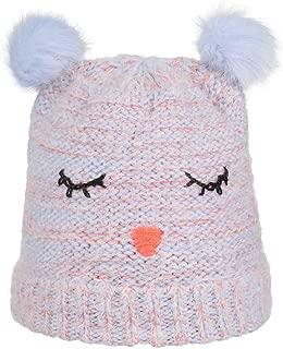 In Grau und Braun Warme Winterm/ütze mit zwei Bommel Mit Fleece//Poliester gef/üllt One Size Angenehm zu tragen 100/% Poliester
