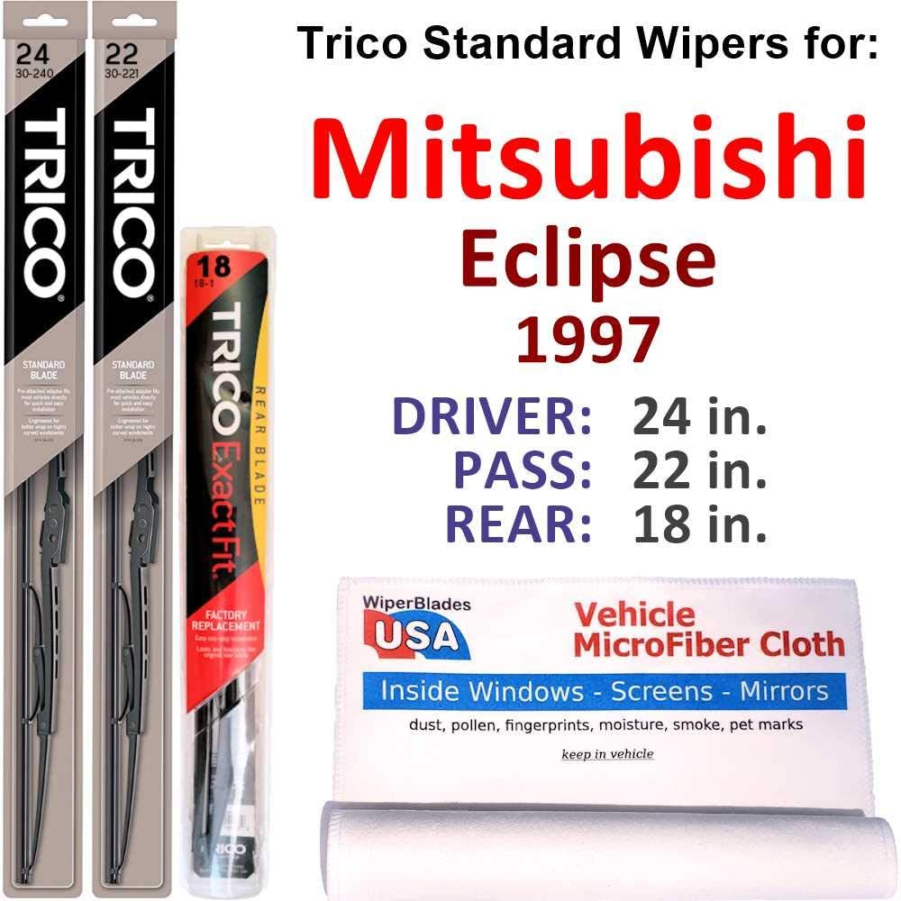 Wipers shop for Regular discount 1997 Mitsubishi Eclipse Set Steel Rear Trico w
