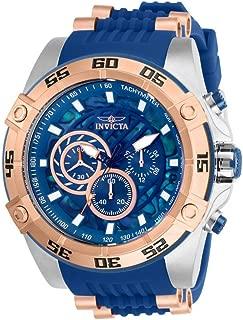Invicta Men's Speedway Quartz Watch with Stainless Steel Strap, Blue, 26 (Model: 27255)