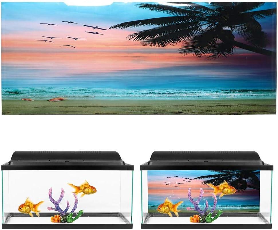Zerodis Aquarium Poster Realistic Pattern depot Seaside Sunset Max 47% OFF Clouds