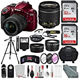 Nikon D3400 with AF-P DX NIKKOR 18-55mm f/3.5-5.6G VR, Total of 48 GB...