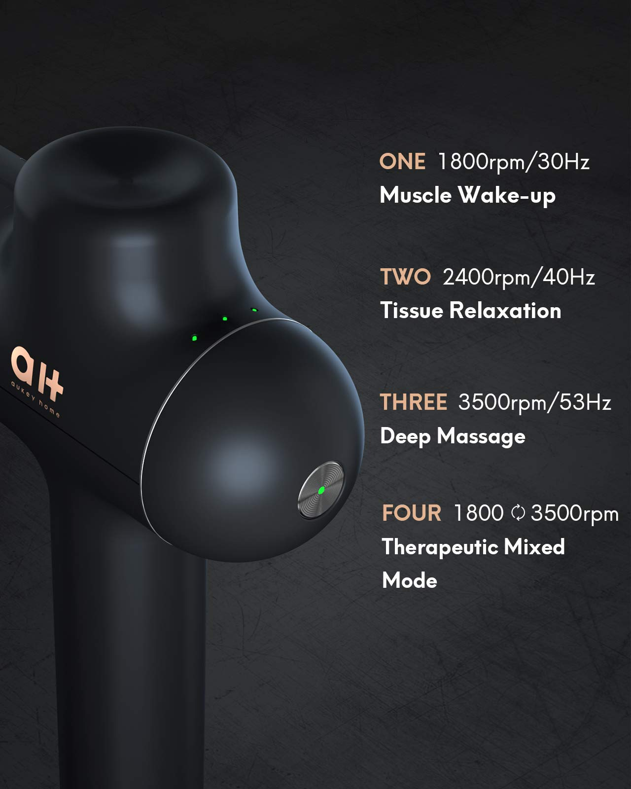 Massage Gun for Athletes, Deep Tissue Muscle Massager, High-Intensity Percussion and Ultra Slim Design for Long Time Handheld, 8 Heads with Therapeutic Mixed Mode, Portable Waterproof Travel Bag
