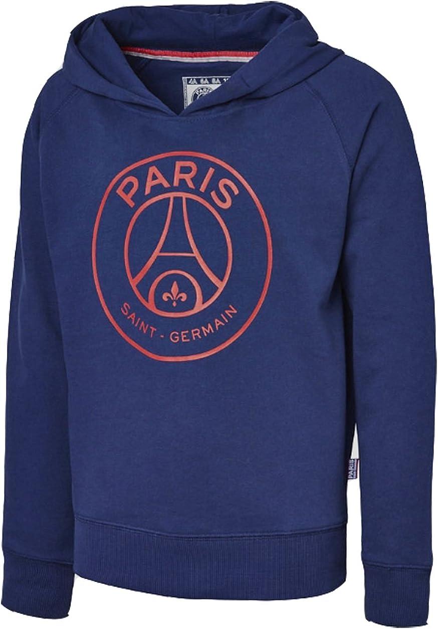 Paris Saint Germain - Felpa della squadra di calcio francese Paris Saint Germain, collezione ufficiale, taglia bambino/ragazzo