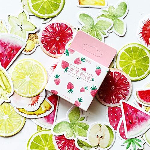PMSMT 45 unids/Pack Lindo la Historia de la Fruta Frutas de Verano Pegatinas Scrapbooking DIY Diario álbum Adhesivo Adhesivo decoración papelería