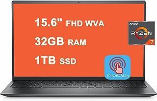 Dell 2021 Flagship Inspiron 15 5000 5515 ノートパソコン 15.6インチ FHD WVA タッチスクリーン AMD 8-Core Ryzen 7 5700U 32GB RAM 1TB SSD AMD Ra...