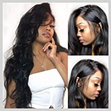 Lace Front Wigs, VIPbeauty Brazilian Body Wave Human Hair Lace Front Wigs for Black Women 130% Density Glueless Wavy Lace Frontal Wig Pre Plucked with Baby Hair(20