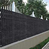 LeeMas Inc 25'x4' Privacy Fence Screen Fabric Mesh Netting Windscreen for Outdoor 4 ft Fencing Black for Outdoor Garden Home Balcony