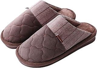 XXYANZI Pantoufles Hiver Homme Maison Pantoufles Grande Taille Chaussons Anti-dérapante Chaussures Doublées en Peluche Cha...