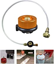 Propane Hose Adapter With Propane Tank Gauge, Propane Tank Bottle Converter For Outdoor Camping Stove Portable For Propane Butane Tank (60-65cm/ 23.64-25.61 Inch)