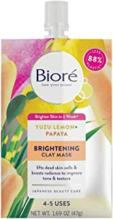 Brightening Clay Mask, 1.69 Fluid Ounces, to Improve Skin Tone and Texture, for All Skin Types