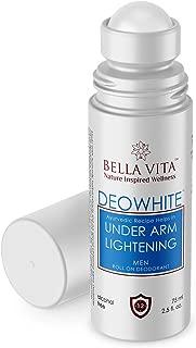 Bella Vita Organic Deo White Deodorant for Men Natural Roll On Under Arm Skin Whitening & Lightening For Boys, 75 ml