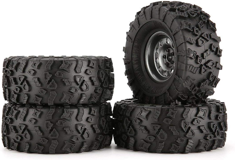 Zinniaya 4Pcs 130mm Wheel Rim Tires for 1 10 RC Rock Crawler Car Accessories Component