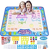 """Ordenado Aqua Magic Doodle Mat Kid Toys, 40"""" x 32"""" Large Water Doodle Drawing Mat Mess Free Coloring Mats with 40 Accessories, Educational Toys for Kids Toddlers Boys Girls Age 2 3 4 5 6 7"""