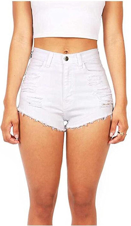 Nihewoo Jean Shorts for Women Casual Insert Pockets Sexy Ultra-Short Denim Shorts Jean Shorts for Summer