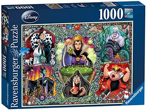 Ravensburger Puzzle, Puzzles 1000 Piezas, Las Villanas Disney, Puzzle Disney, Villanos Puzzle, Puzzles para Adultos, Puzzle Ravensburger