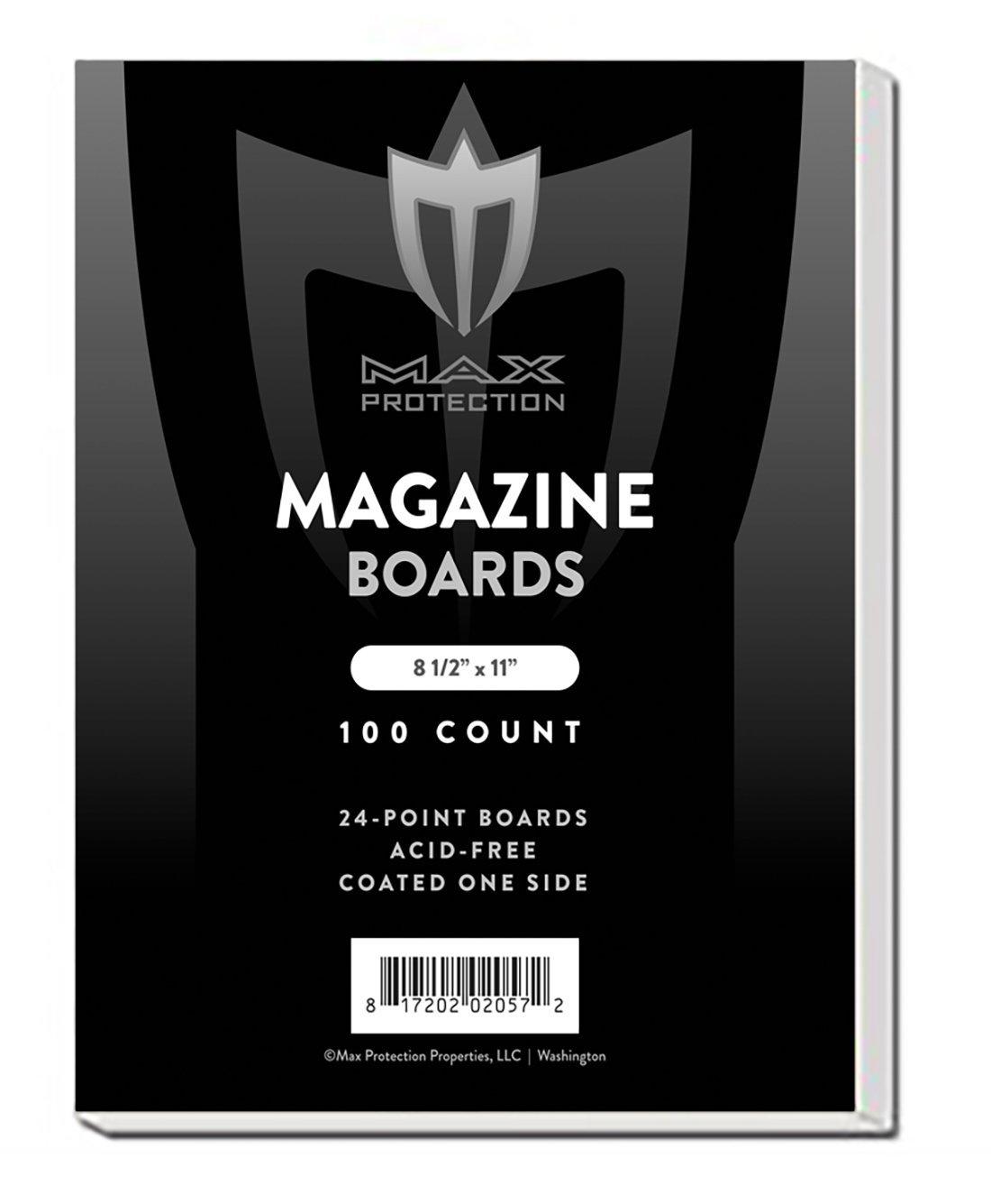 """Magazine Backing Boards (100 Count), 8.5 x 11"""" - Acid Free Archival Safe"""