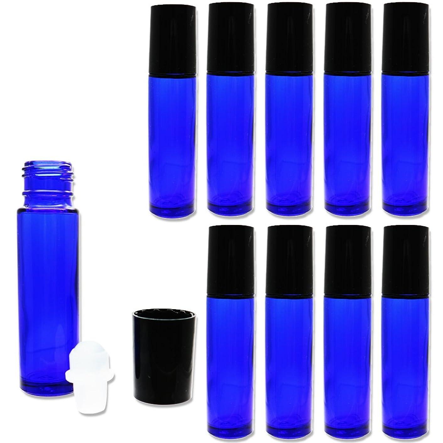 みなさん建築爆発物Solid Value ロールオンボトル アロマオイル ガラスロール 詰め替え 遮光瓶 (10ml 10本セット)