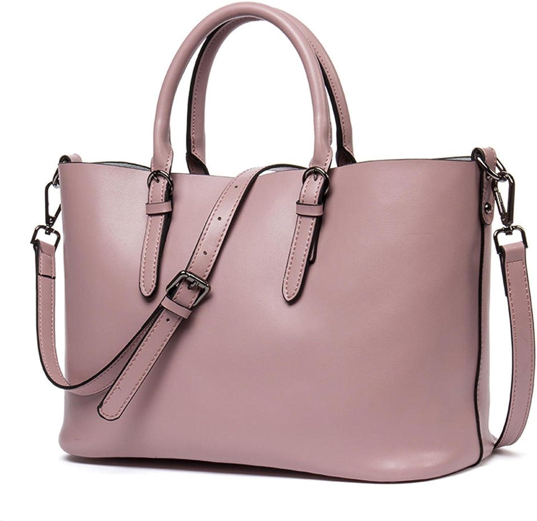 HMILY Fashion Belt Buckle Leather Tote Shoulder Bag Messenger Bag Tote H6928 Pink