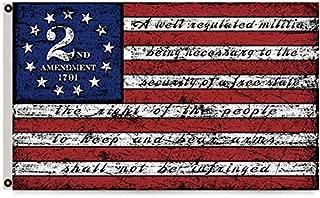 Mountfly Second 2nd Amendment 1791 Vintage American Flag Banner 3x5 Feet Man Cave