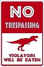 Dark Spark Decals No Trespassing Violators Will Be Eaten Trex - 15