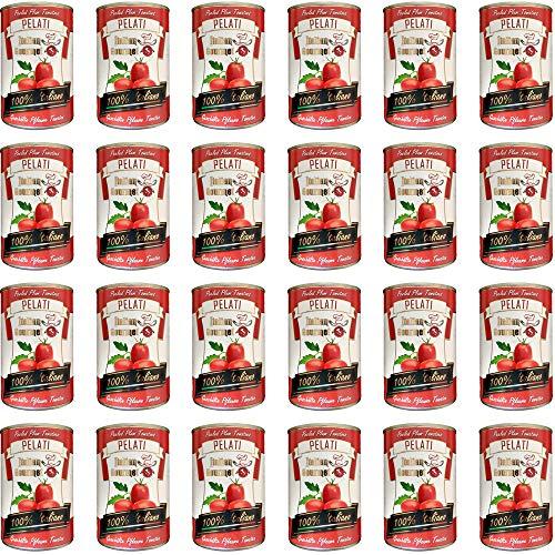 24x Italian Gourmet Pomodori 100% italienisch Pelati Ganze Geschälte Pflaume Tomaten sauce dose 400g
