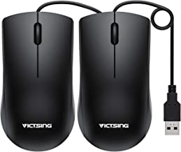 VicTsing Computer Mouse 2 Pack, 【2020 Classic】 USB Mouse Optical Wired Mouse with 25%..