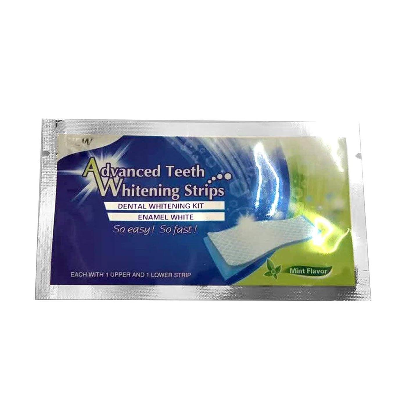 アルカイックいちゃつく繁雑テープホワイトニングストリップホワイトテープ歯ホワイトニングプロフェッショナルホワイトニングアドバンストブリーチテープ - ホワイト