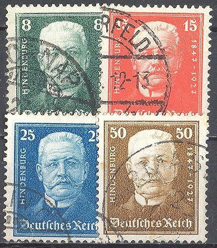 Goldhahn Deutsches Reich Nr. 438-439 gestempelt Südamerikafahrt 1930 Briefmarken für Sammler