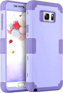 Galaxy Note 5 Case, BENTOBEN Samsung Galaxy Note 5 Case 3-in-1 Hybrid Shockproof Anti Scratch Polycarbonate Hard Covers for Upper and Bottom Soft Silicone for Interior Cover, Purple