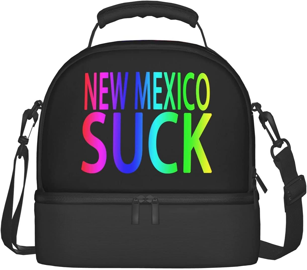 New Mexico Suck Lunch Bag Surprise price All stores are sold Storage Strap Shoulder Adjustable Cold