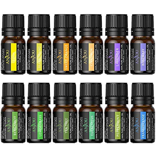 Anjou Essential Oils Set Pure Aromatherapy Oils Basic Sampler Kit, 6 / 10 ml (Lavender, Tea Tree,...
