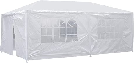 Smartxchoices 10' x 20' Outdoor White Waterproof Gazebo Canopy Tent with Removable Sidewalls Windows Heavy Duty Tent for Party Wedding Events Beach BBQ…