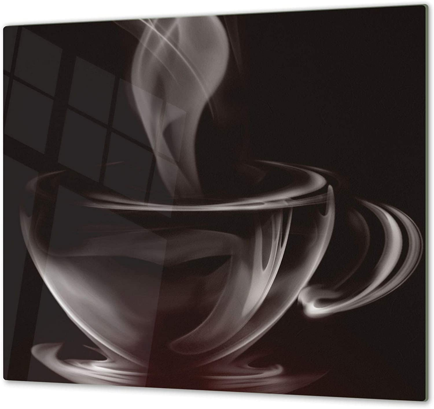 """KITCHEN BOARD & Induction Cooktop Cover – Glass Pastry Board; MEASURES  SINGLE  23,62"""" x 20,47""""; DOUBLE  2x 11,81"""" x 20,47""""; D05 Coffee Series  Coffee 6"""