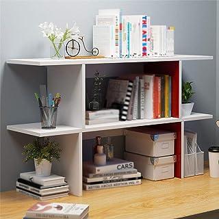25x7x13inch Multiuso Scaffale Organizer Da Tavolo Libreria Da Scrivania Regali Di Compleanno Home Decor-bianca 64x17x34cm