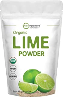 Micro Ingredients Organic Lime Powder, 1 Pound (16 Ounce), Rich in Immune Vitamin C for Immune System Booster and Great Fl...