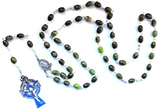 Oval Beaded Rosary Made of Genuine Connemara Marble