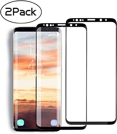 [2 Pack] MSLAN Samsung Galaxy S8 Plus Screen Protector,3D Curved Tempered [