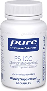 Pure Encapsulations PS 100 | Phosphatidylserine Amino Acid Supplement for Brain, Memory, Cognitive Health, and Emotional W...