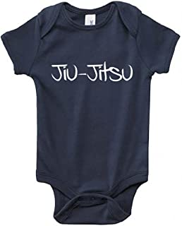 Interstate Apparel Inc Unisex Baby Infant Jiu-Jitsu V184 Navy Bodysuit 3M-24M