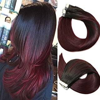 Best dark red ombre hair extensions Reviews