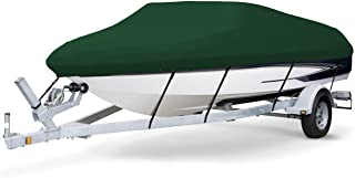 7 oz Solution Dyed Polyester Hunter Green, Styled to FIT Boat Cover for BASS Tracker/Tracker/SUNTRACKER PRO Crappie 175 2000-2002