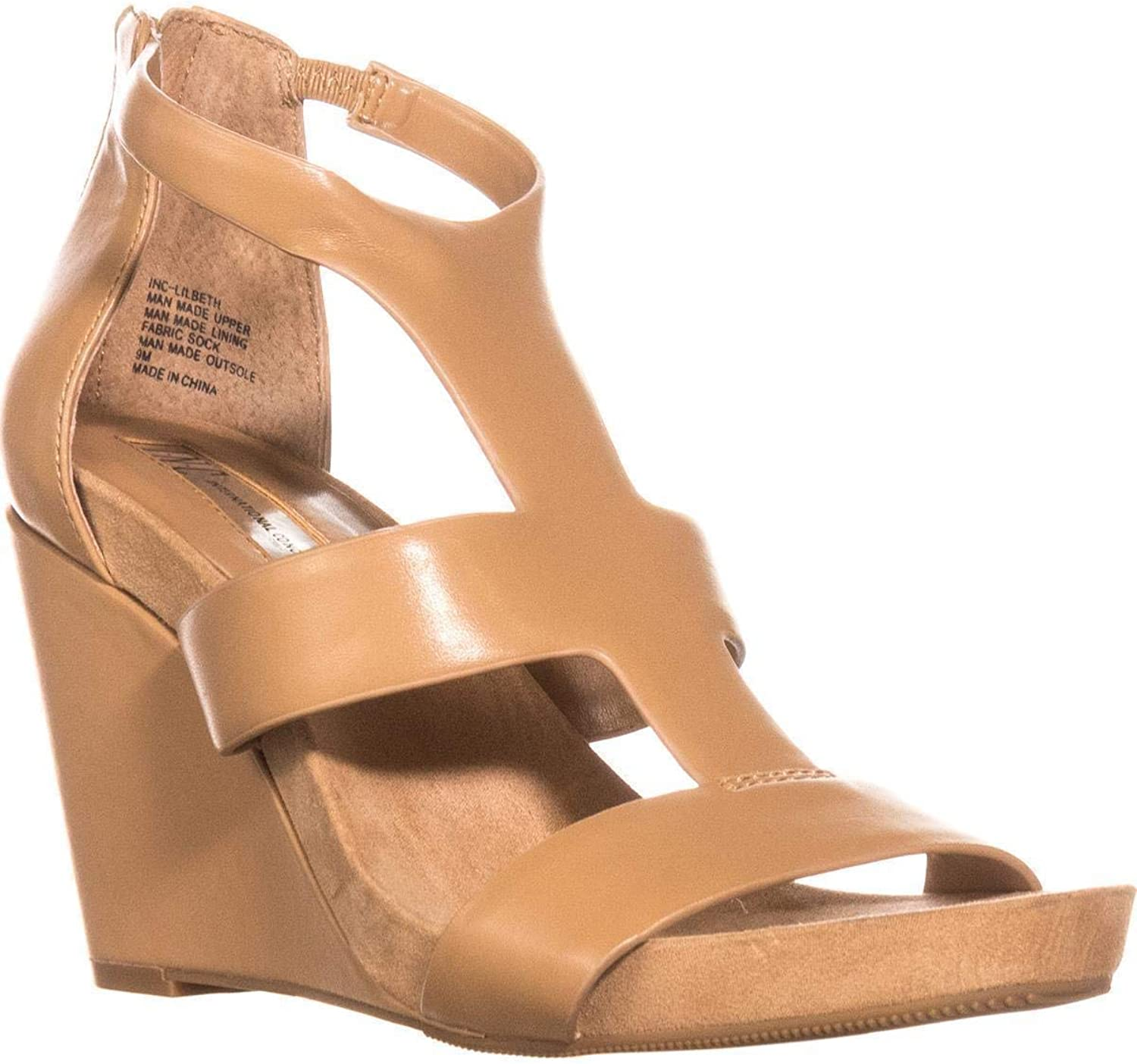 INC International Concepts Womens Lilbeth Open Toe Casual, Classic Tan, Size 9.5