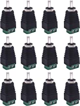 RCA to AV Screw Terminal Adapter, 6 Pair Phono Plug Solderless Converter Audio/Video Speaker Wire Connectors, CCTV Applications RCA Male Cable (12 Male) by Xwell