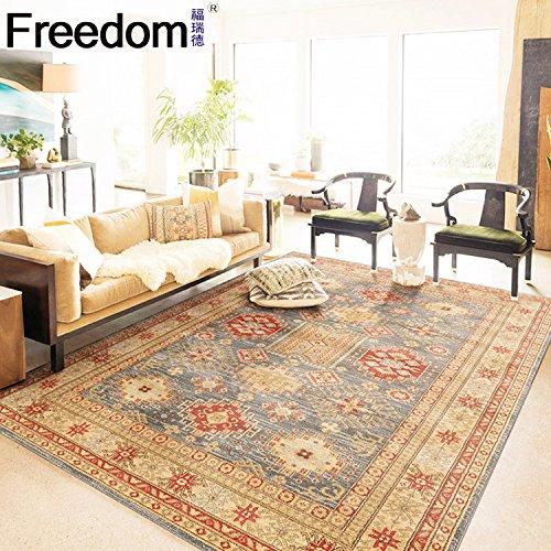BAGEHUA Tamaño Personalizado Salón mesa de café turco alfombra dormitorio moda europea MANTA Manta de cabecera, 80x150cm, Hls-18
