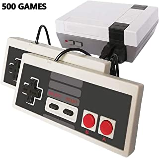 Infityle Classic Mini Retro Game Consoles with 2 Classic Controllers, AV Output 8-bit Built-in 500 Games