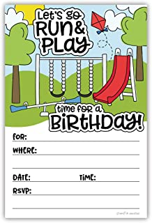Playground Park Birthday Invitations (20 Count) With Envelopes